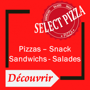 Consulter la carte select pizza