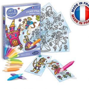 SentoSphère – Art & créations – Stickers vitrail Princes et princesses – 2690 – Made in France