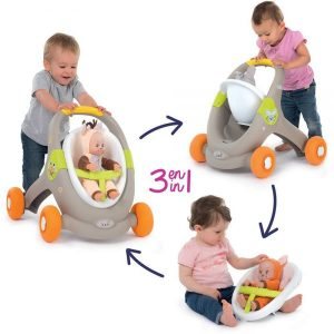 Smoby – Minikiss Baby Walker 3 en 1 animal – 210206