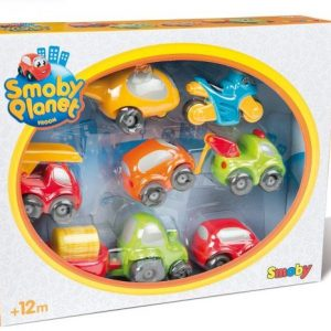 Smoby – Vroom Planet Coffret 7 véhicules Collector – 120217