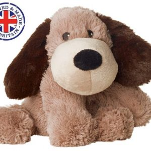 Soframar – Bouillotte sèche Chien marron Cozy Peluche – AR0081 – Made in england