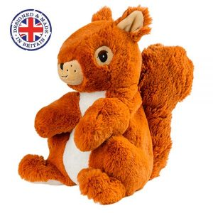 Soframar – Bouillotte sèche Ecureuil Cozy Peluche – AR0030 – Made in england