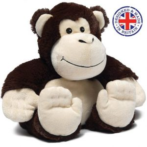 Soframar – Bouillotte sèche Singe Cozy Peluche – AR 0108 – Made in england