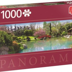 Diset Jumbo – Puzzle panorama Colourful garden – 1000 pièces – 18571