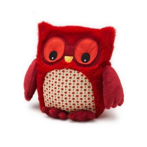 Soframar – Bouillotte sèche Peluche Hibou Rouge – AR0190 – Made in england