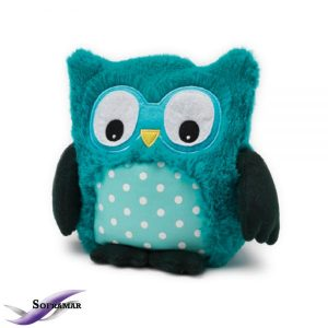 Soframar – Bouillotte sèche Peluche Hibou Turquoise – AR0209 – Made in england