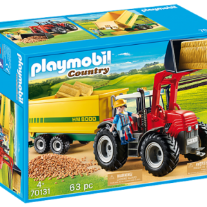 Grand tracteur avec remorque – Playmobil Country – 70131