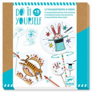 12 Thaumatropes à créer – Do It Yourself – Djeco – DJ07944