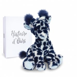 Peluche Girafe Lisi bleue – Terre sauvage – 30 cm – Histoire d'ours – HO3043