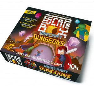 Escape box Minecraft Dungeons – Escape game enfant de 2 à 5 joueurs – De 8 à 12 ans
