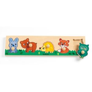 Puzzle bois gros boutons – Forest n co – Djeco – DJ01119